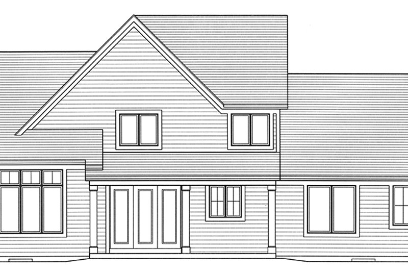 Traditional Exterior - Rear Elevation Plan #46-850 - Houseplans.com