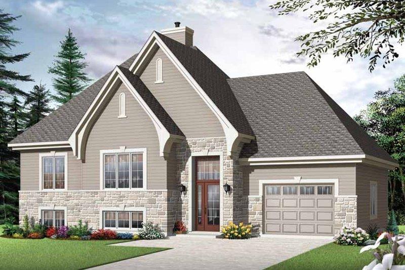 House Plan Design - European Exterior - Front Elevation Plan #23-2540