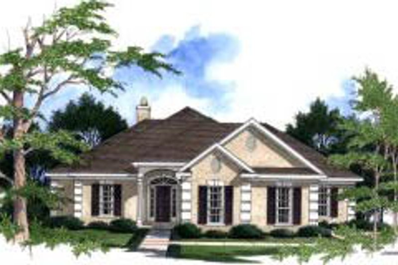 Architectural House Design - Traditional Exterior - Front Elevation Plan #37-187