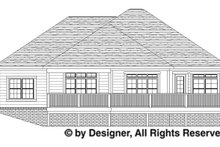 Home Plan - Traditional Exterior - Rear Elevation Plan #1057-4