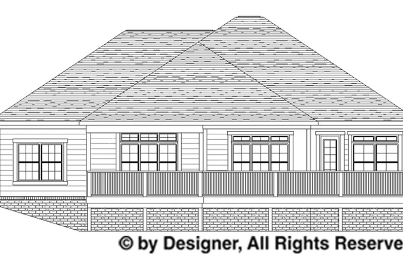 Traditional Exterior - Rear Elevation Plan #1057-4 - Houseplans.com