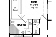 House Plan Design - Colonial Interior - Master Bathroom Plan #316-273