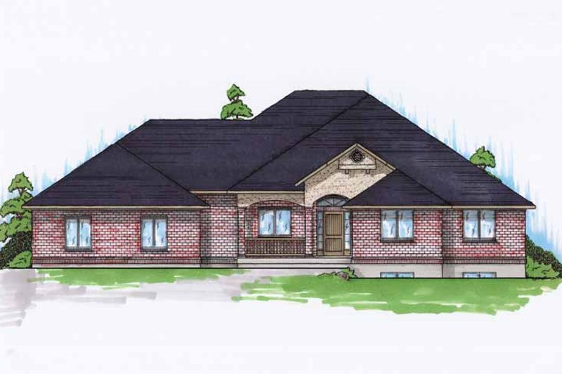 Traditional Exterior - Front Elevation Plan #945-96 - Houseplans.com