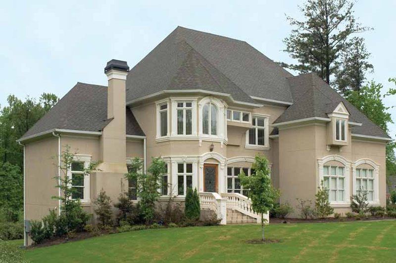 European Exterior - Front Elevation Plan #119-380 - Houseplans.com