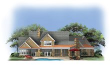 European Exterior - Rear Elevation Plan #929-903
