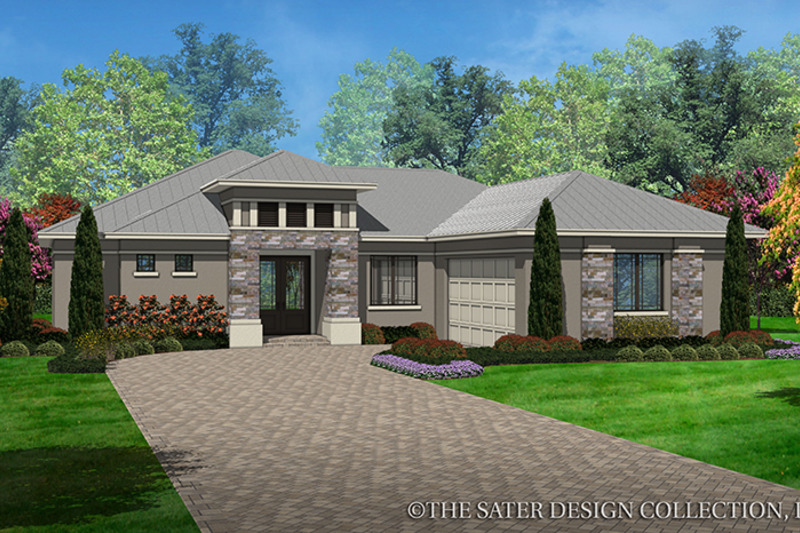 Contemporary Exterior - Front Elevation Plan #930-451 - Houseplans.com