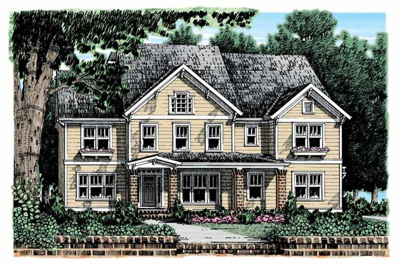 Craftsman Exterior - Front Elevation Plan #927-908