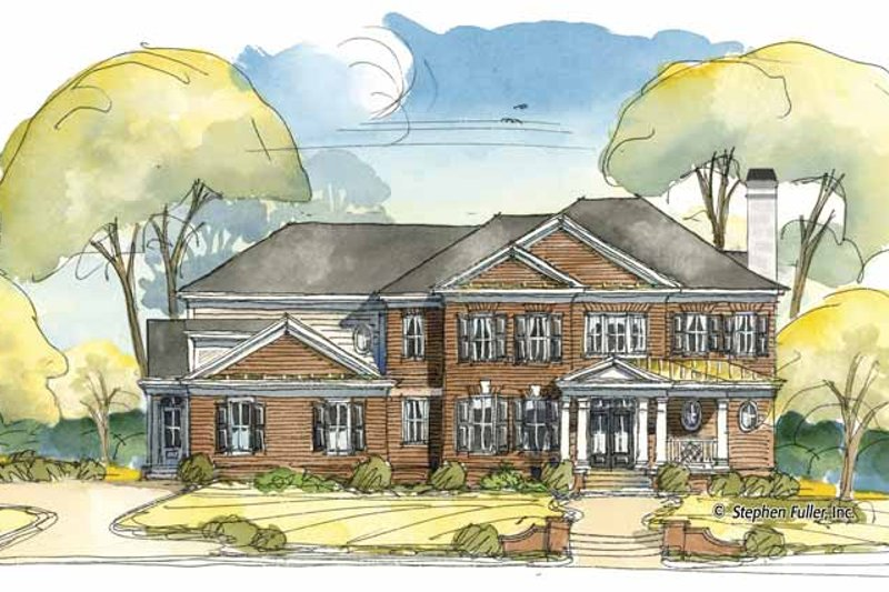Colonial Exterior - Front Elevation Plan #429-405