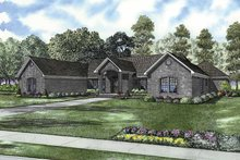 Home Plan - Contemporary Exterior - Front Elevation Plan #17-2843
