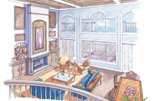 Classical Interior - Family Room Plan #930-76