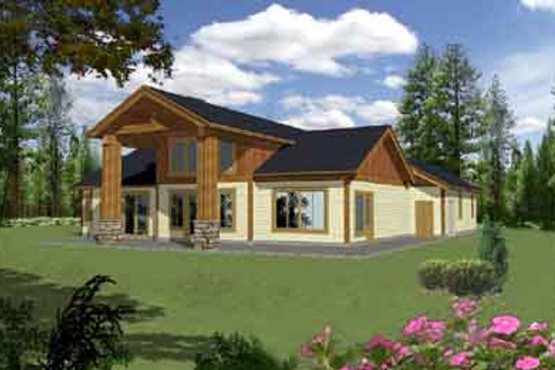 Traditional Exterior - Rear Elevation Plan #117-464 - Houseplans.com