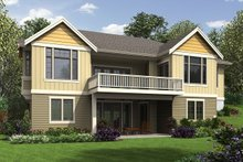 House Plan Design - Craftsman Exterior - Rear Elevation Plan #48-972