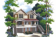 Dream House Plan - Colonial Exterior - Front Elevation Plan #48-840