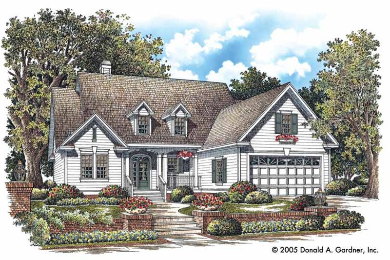 Country Exterior - Front Elevation Plan #929-747 - Houseplans.com