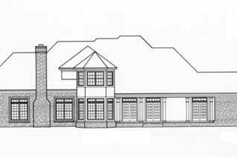 Classical Exterior - Rear Elevation Plan #952-93 - Houseplans.com