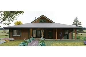 Country Exterior - Front Elevation Plan #452-1