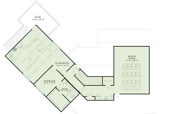 European Floor Plan - Upper Floor Plan Plan #17-2462