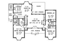Country Floor Plan - Main Floor Plan Plan #314-284