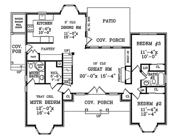 House Plan Design - Country Floor Plan - Main Floor Plan #314-284