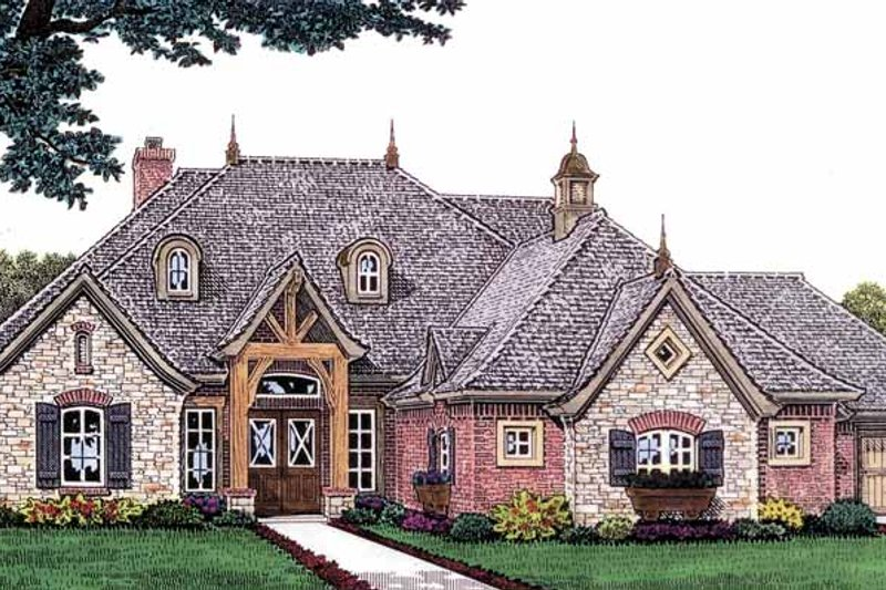 Traditional Exterior - Front Elevation Plan #310-1234 - Houseplans.com
