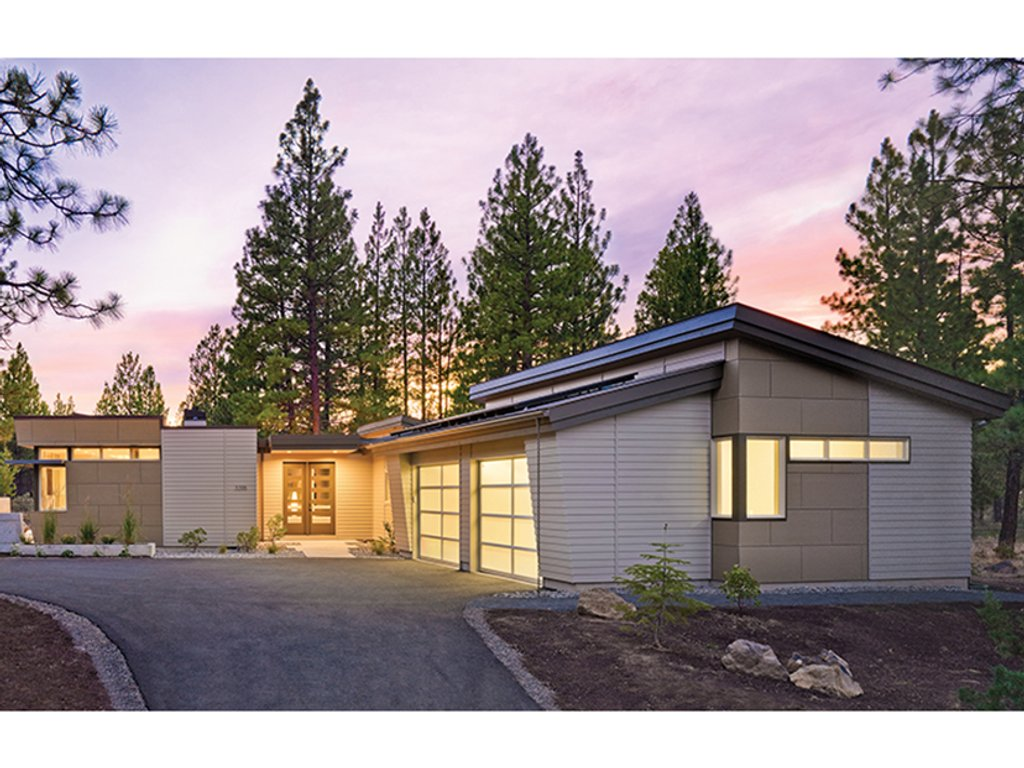 Contemporary style house plan 2 beds 2 baths 2331 sq ft for Modern house 48