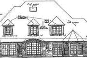 European Style House Plan - 5 Beds 3.5 Baths 3936 Sq/Ft Plan #310-224 Exterior - Rear Elevation