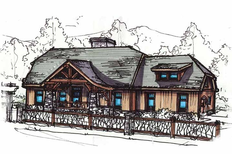 Country Exterior - Front Elevation Plan #17-2901