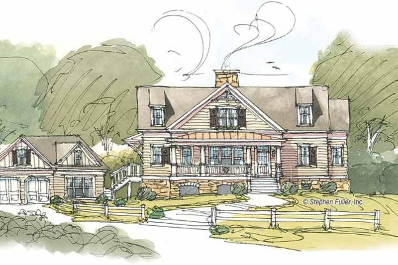 Craftsman Exterior - Front Elevation Plan #429-382