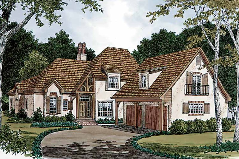 Country Exterior - Front Elevation Plan #453-104