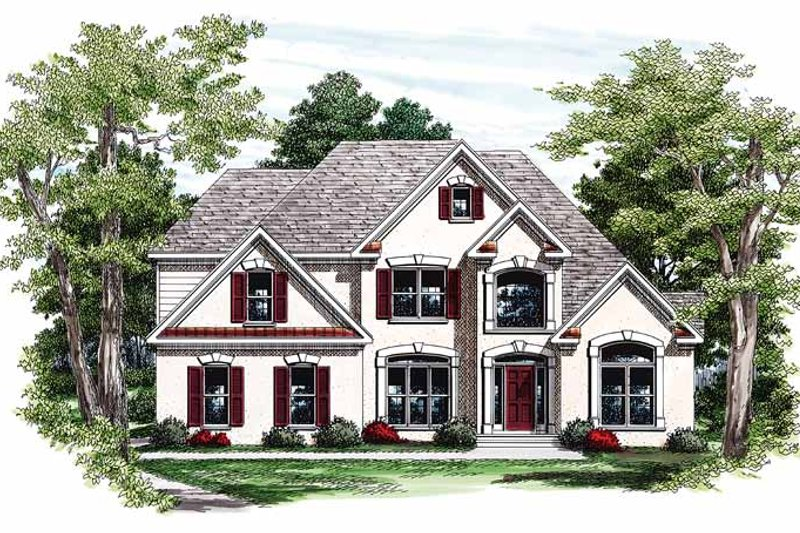 Mediterranean Exterior - Front Elevation Plan #927-85