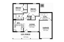 Ranch Floor Plan - Main Floor Plan Plan #1058-74
