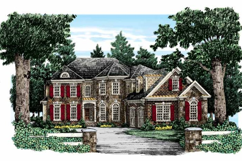 Traditional Exterior - Front Elevation Plan #927-322 - Houseplans.com
