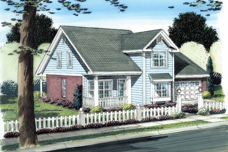 House Plan Design - Traditional Exterior - Front Elevation Plan #513-2108