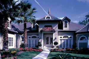 Dream House Plan - European Exterior - Front Elevation Plan #417-629