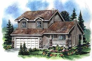 Traditional Exterior - Front Elevation Plan #18-271