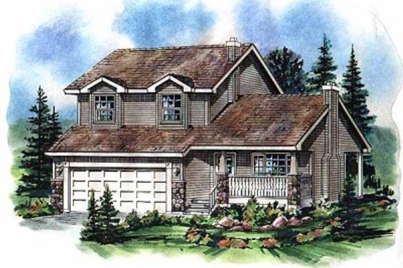 House Blueprint - Traditional Exterior - Front Elevation Plan #18-271
