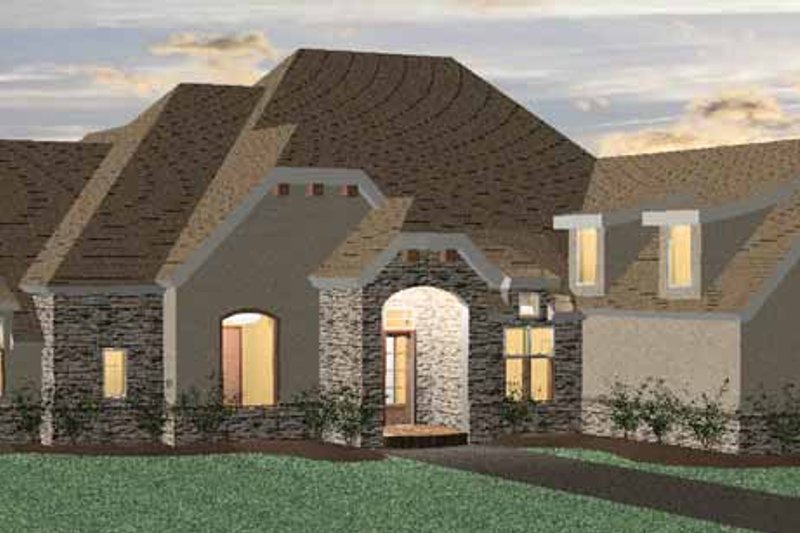 Country Exterior - Front Elevation Plan #937-13 - Houseplans.com