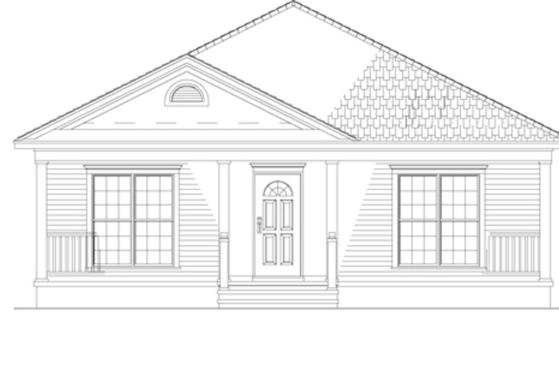 Country Exterior - Front Elevation Plan #17-3057 - Houseplans.com