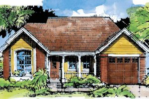 Country Exterior - Front Elevation Plan #320-603