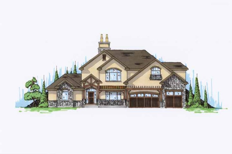 Cottage Exterior - Front Elevation Plan #945-71