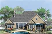 Craftsman Style House Plan - 4 Beds 3 Baths 2491 Sq/Ft Plan #929-949 Exterior - Rear Elevation