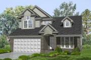 Traditional Style House Plan - 3 Beds 2.5 Baths 1743 Sq/Ft Plan #50-129 Exterior - Front Elevation