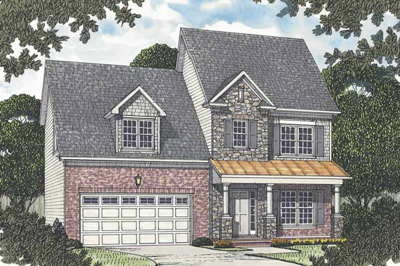 Dream House Plan - Colonial Exterior - Front Elevation Plan #453-505