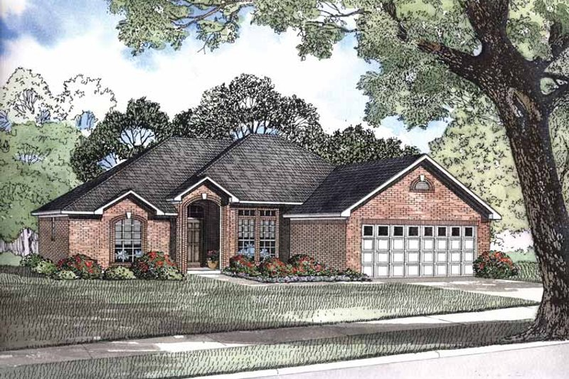Traditional Exterior - Front Elevation Plan #17-2883 - Houseplans.com