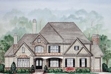 Country Exterior - Front Elevation Plan #54-377