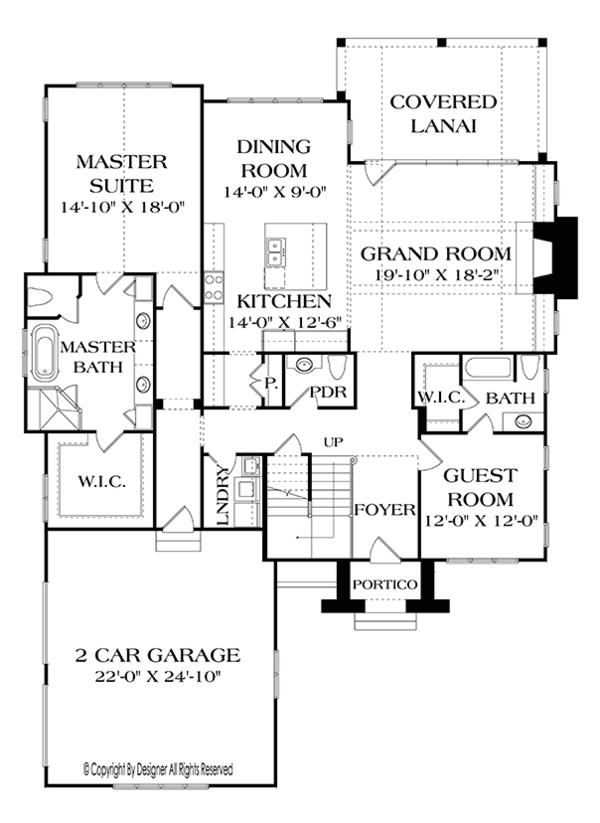 European Floor Plan - Main Floor Plan Plan #453-637