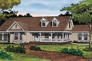 Country Exterior - Front Elevation Plan #314-229