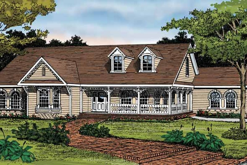 Country Exterior - Front Elevation Plan #314-229 - Houseplans.com