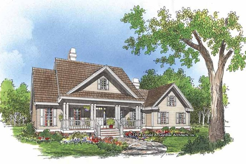 Country Exterior - Front Elevation Plan #929-484