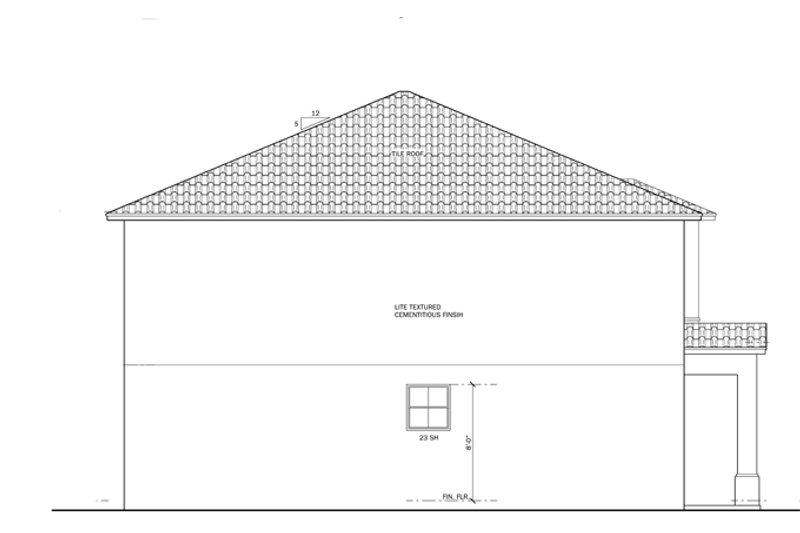 Mediterranean Exterior - Other Elevation Plan #1058-63 - Houseplans.com